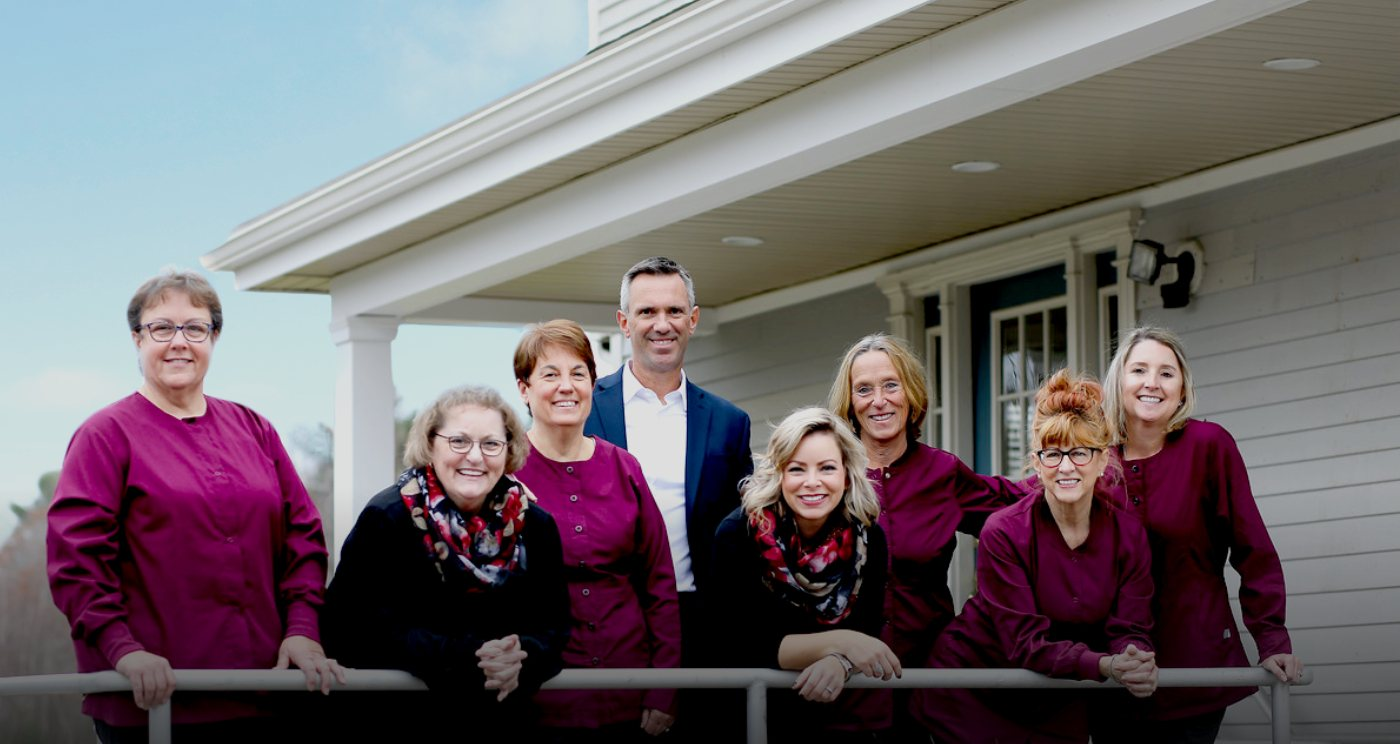 The dental team from J. Peter St. Clair, DMD, PC in Rowley, MA