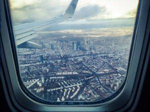 Man with sleep apnea in Rowley on an airplane